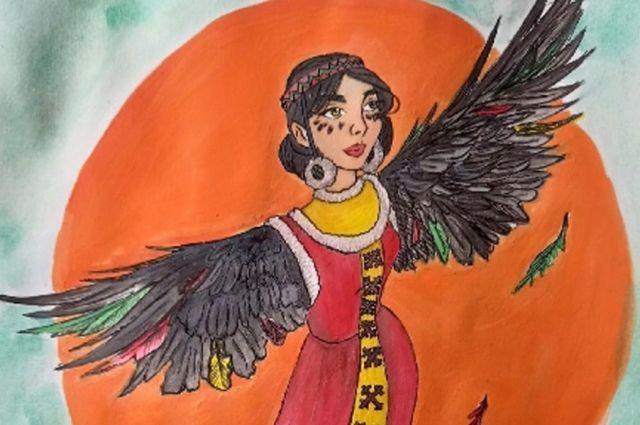 Юная югорчанка Елизавета стала одной из победительниц конкурса с рисунком по национальным мотивам