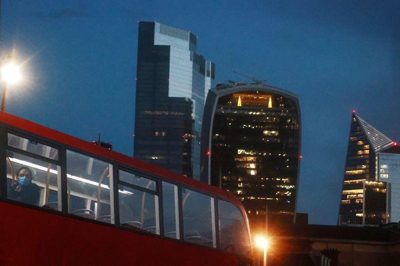 Лондон во время локдауна.