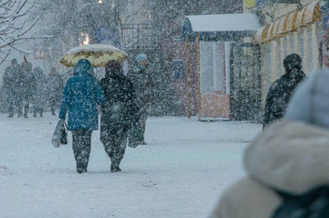 В Оренбуржье прогнозируют метель, снегопад и гололед.