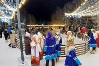 В Тарко-Сале открыли каток под открытым небом