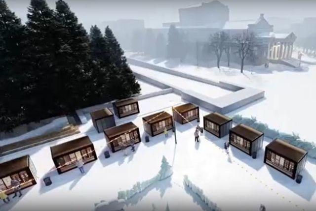 Визуализация новогоднего городка.
