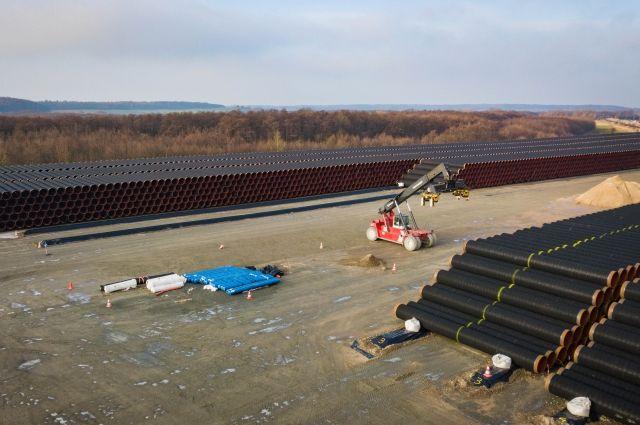 Сухопутная часть газопровода Северный поток - 2 готова к вводу