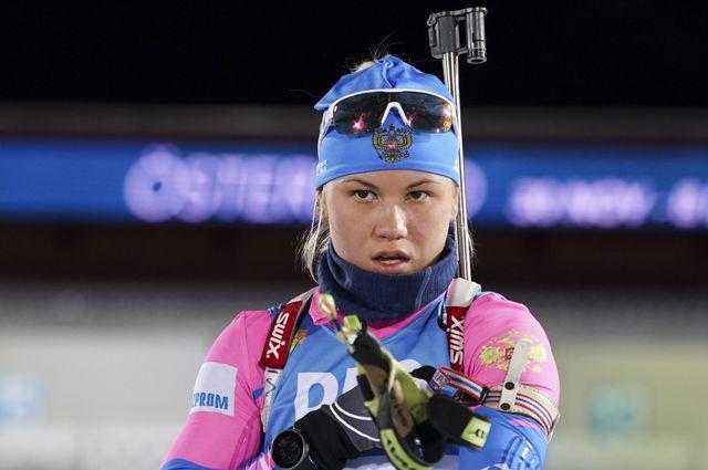 Биатлонистка Кристина Резцова.