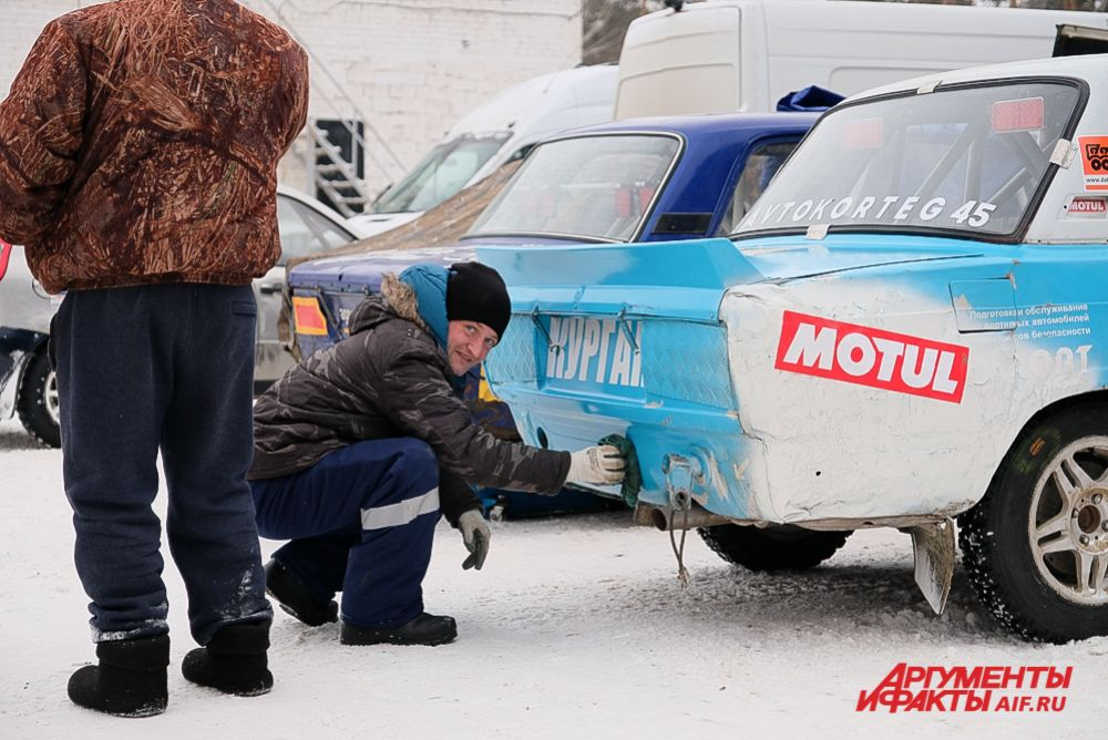 Финал автомобильных гонок на льду «Трек 400» 2020.