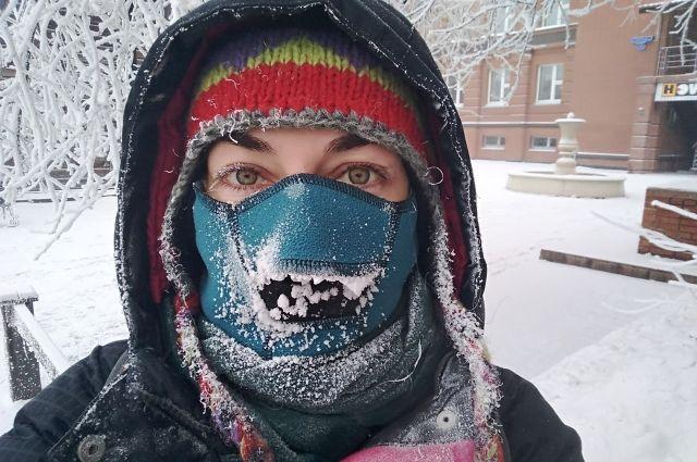 Есть ещё красноярцы, которые не боятся морозов.