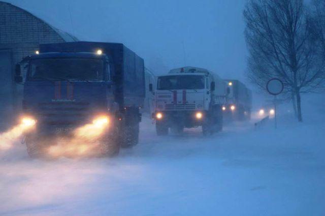 Из-за метели на дорогах региона плохая видимость