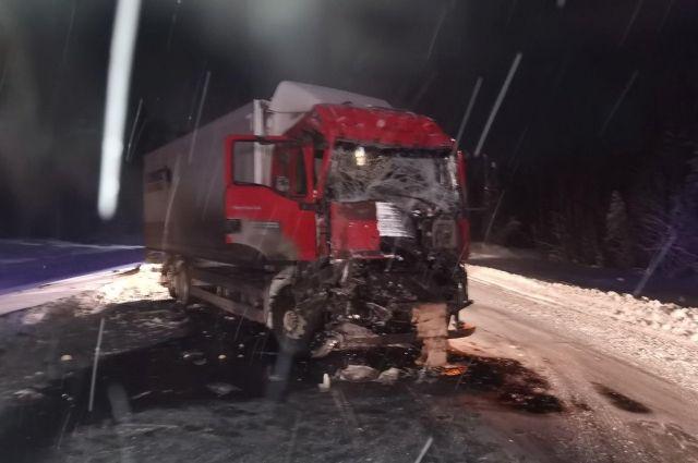 На 638 км автодороги «Тюмень-Ханты-Мансийск» столкнулись «МАН» и «Фредлайнер»