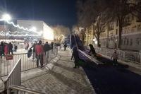 Катание на горке за оренбургских детей оплатил неизвестный меценат.