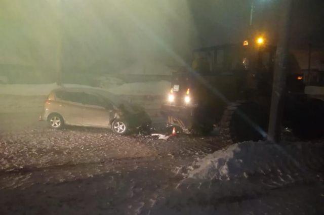 В половине пятого часа утра в Новосибирске произошло ДТП