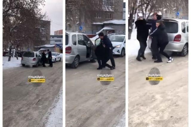 Небольшой дорожный конфликт в Дзержинском районе Новосибирска закончился потасовкой между водителем службы такси «Ситимобил» и женщиной-водителем.