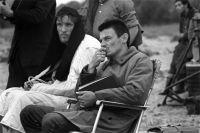 Андрей Тарковский и Анатолий Солоницын на съемках фильма «Андрей Рублев».