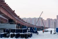 К концу 2020 года готовность моста через реку Обь в Новосибирске составила 20%.