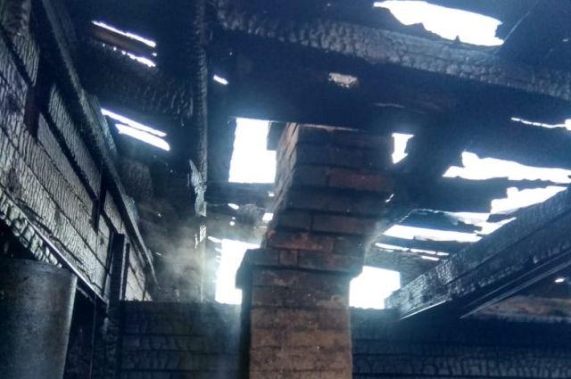 Сгорел частный жилой дом в городе Бородино.