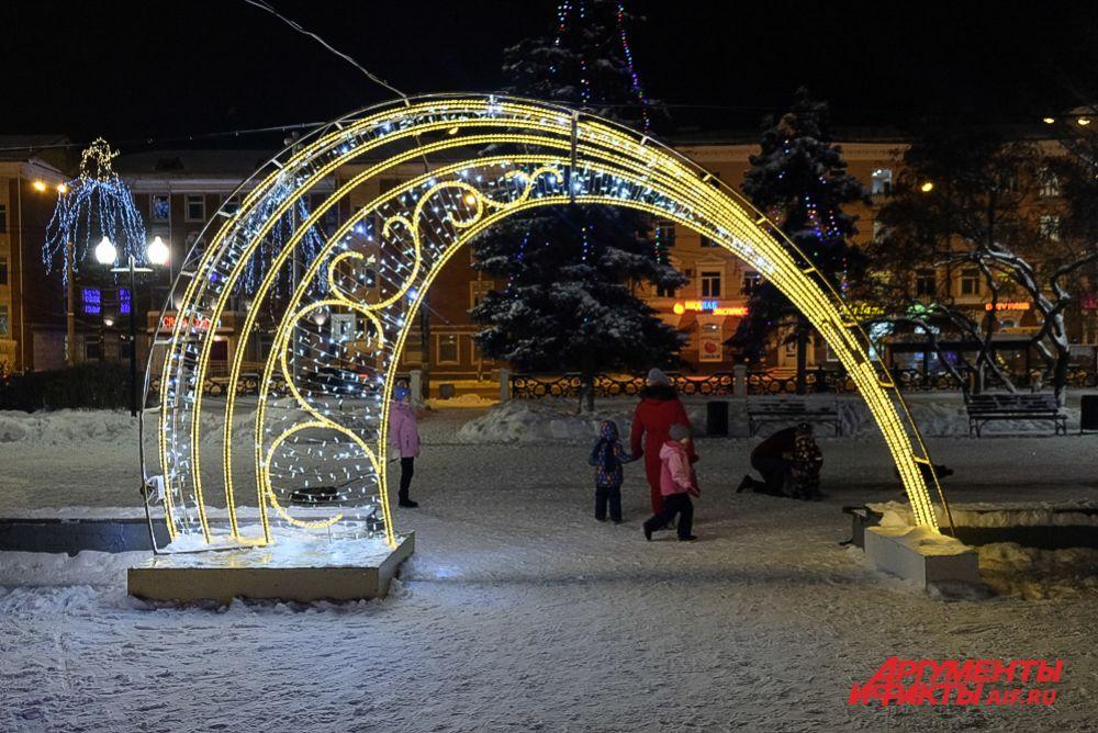 Ледовые городки в Перми.