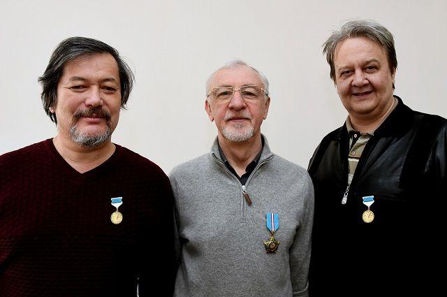 Сотрудники «АиФ» Виктор Верк (слева), Сергей Козлов (в центре) и Иван Резванцев.