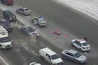 В центре Новосибирска Range Rover насмерть сбил женщину пешехода.