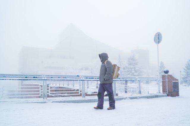 Все новогодние выходные были морозными в Красноярске.
