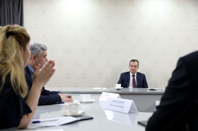Перед Новым 2021 годом губернатор Кубани провел пресс-конференцию и ответил на вопросы руководителей ведущих СМИ региона.