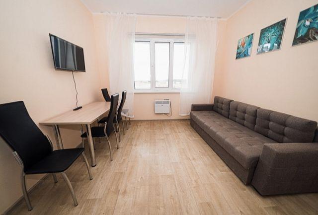 Одна из квартир в общественно-жилом комплексе «Ладья»