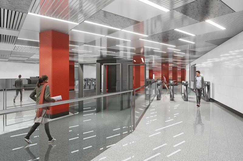«Мичуринский проспект». Станцию оформят в китайском стиле, отсюда можно будет пересесть на Калининско-Солнцевскую линию.
