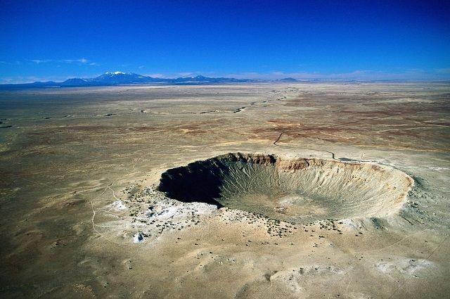 Метеоритный кратер Шунак.