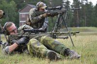 Шведские снайперы на учениях.