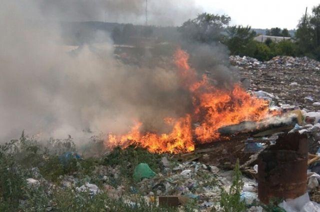 Площадь возгорания составила 250 квадратных метров.