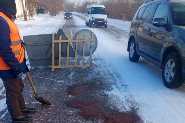 Зимний ямочный ремонт проведут на четырёх улицах.