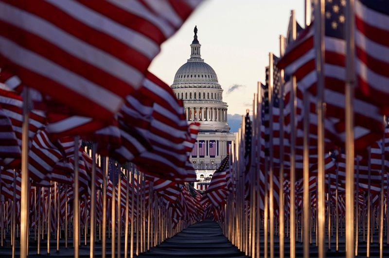 На церемонии инаугурации президента США Джо Байдена.