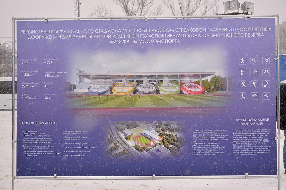 На футбольном поле уложат натуральный газон с системами автоматического полива и обогрева, установят систему освещения поверхности поля, новое электронное табло и медиасистему.
