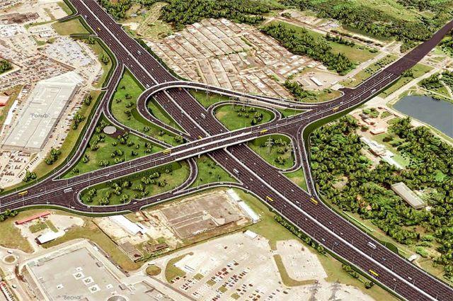 Будущая развязка МКАД и Алтуфьевского шоссе: никаких перекрещивающихся потоков машин.