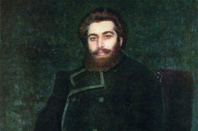 Портрет художника Архипа Ивановича Куинджи (И. Е. Репин, 1877).