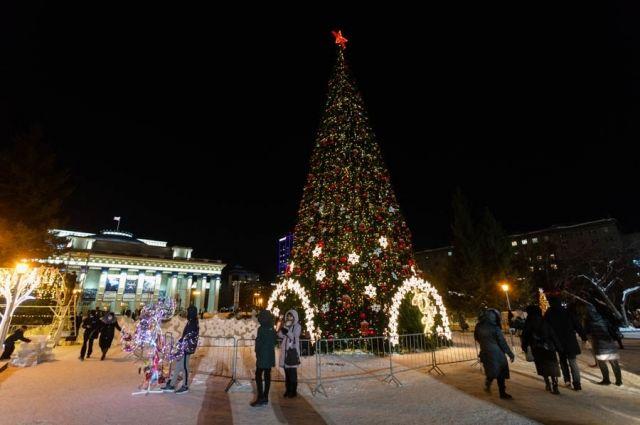 В сильные морозы лишь немногие горожане отваживались прогуляться по новогоднему городку.
