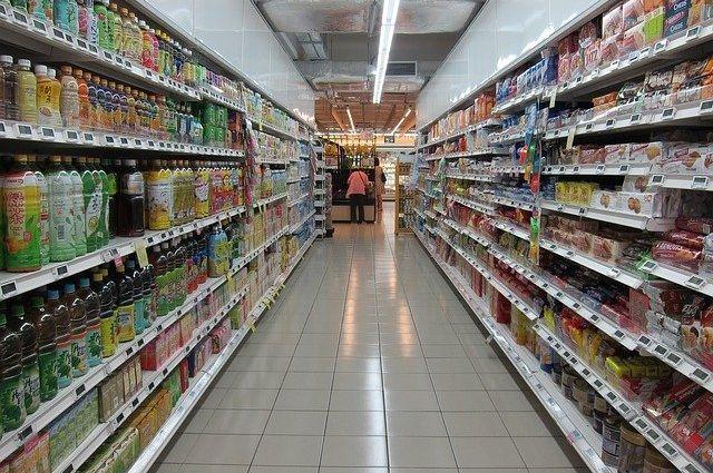 Новый супермаркет готовится к открытию.