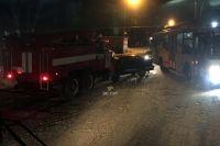 Автомобиль противопожарной службы двигался со спецсигналами