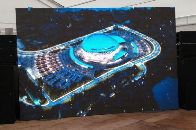 К Молодежному чемпионату мира по хоккею в Новосибирске строят новый ЛДС.