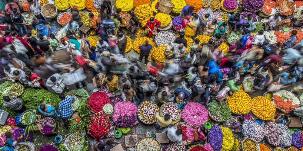 Рынок в Бангалоре, Индия.