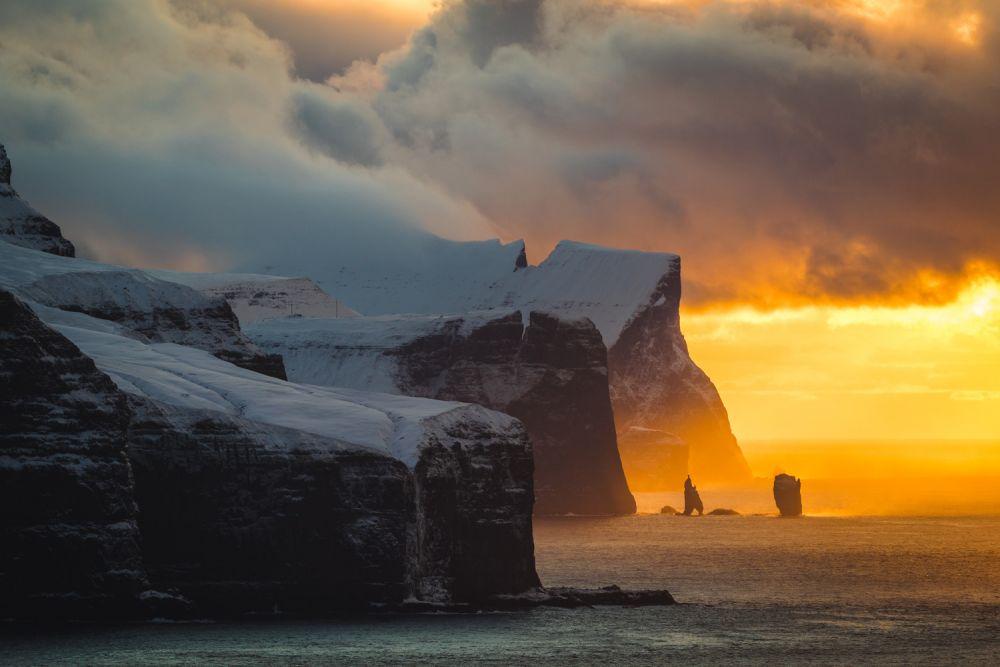Зимний день на острове Калсой, Фарерские острова.