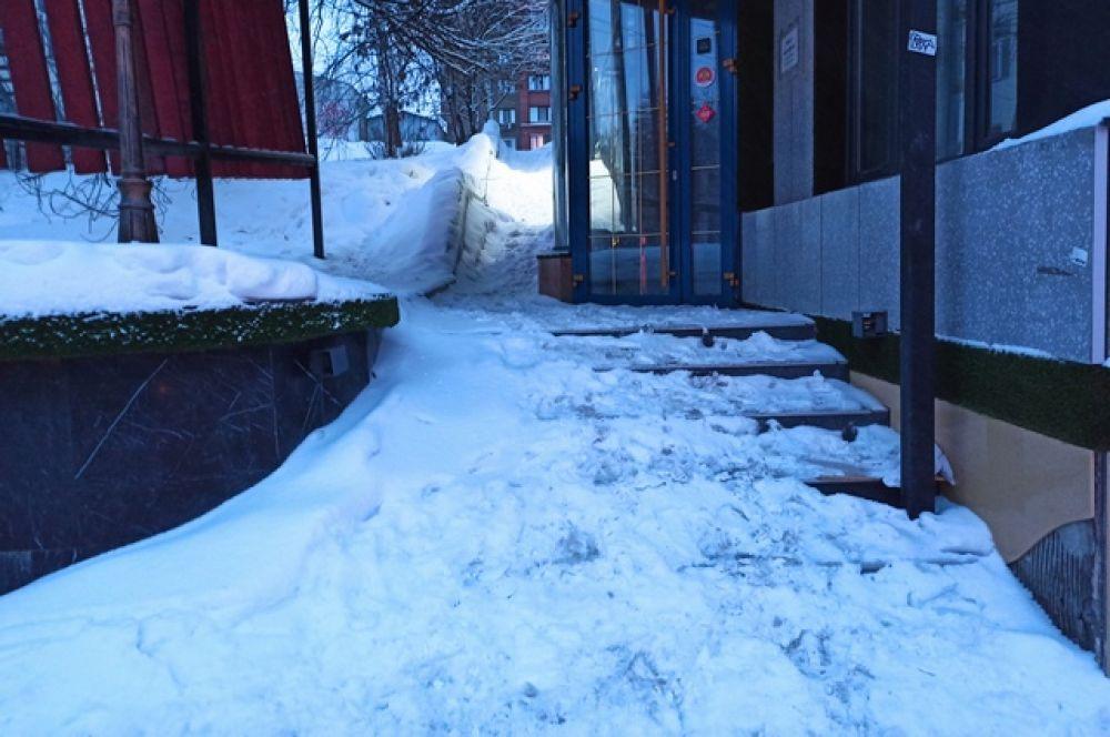 Лестница во двор дома на пересечении улиц Цюрупы и Коммунистической.