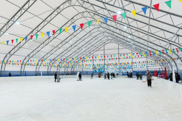 В Новом Порту открылся современный хоккейный корт