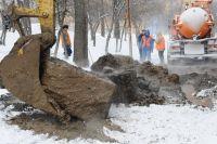 На месте коммунальной аварии идут восстановительные работы.