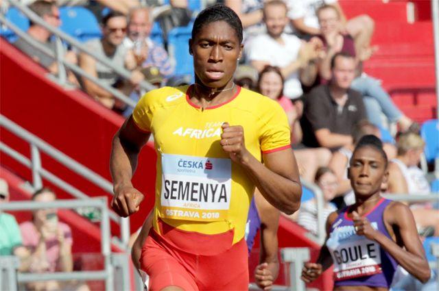 Южноафриканка Кастер Семеня, двукратная олимпийская чемпионка и трехкратная чемпионка мира в беге на 800 метров.
