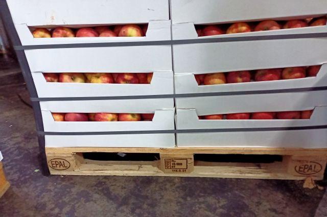 Яблоки неизвестного происхождения сразу уничтожили.