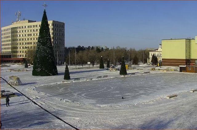 Демонтаж новогоднего городка в Оренбурге завершится к концу февраля.