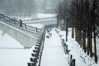 Набережная реки Яузы в Москве.