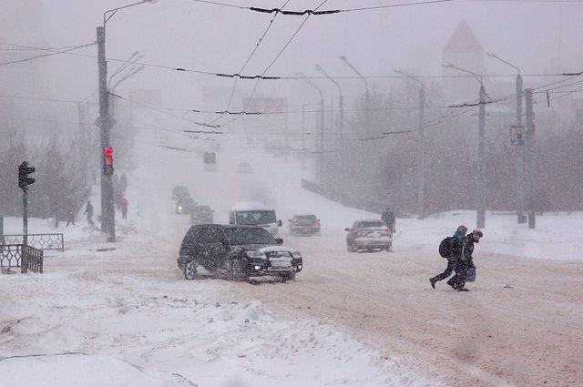Мороз -19 градусов с утра ощущался на несколько градусов больше из-за ветра.