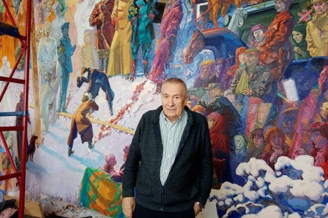 На грандиозной картине 6 на 4 метра Константин Фокин изобразил все ключевые фигуры революции 1917 года.