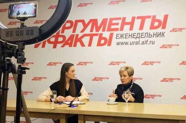 Гостьей первого прямого эфира «АиФ-Урал» стала ректор УГМУ Ольга Ковтун.