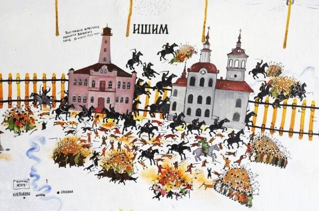 Фрагмент утраченной экспозиции «1921 год» из Ишима.  Художник Рудольф Симанов.