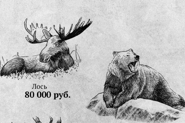 Самые высокие штрафы предусмотрены для тех, кто повинен в смерти лося или медведя.